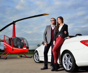 Аренда вертолета для романтического свидания